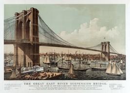 9486.Decoration Poster.Room Wall art.Home decor.Brooklyn Bridge.Harbour ... - $11.29+