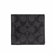 NEW! Authentic! Charcoal/Black Men's COACH F75006 Coin Case/Wallet - $138.48