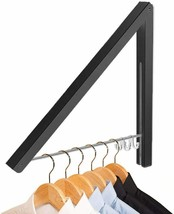 Clothes Drying Rack Wall Mount, Folding Clothes Airer Retachable Coat Rail  - $15.83