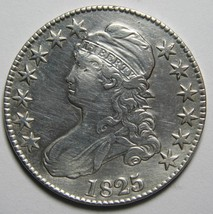 1825 Capped Bust Half Dollar 50¢ Coin Lot# MZ 4205