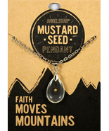 """Mustard Seed Pendant Necklace 18"""" Chain w/extender NEW Faith Moves Mount... - $10.82"""