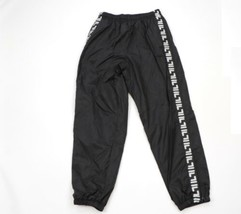 Vintage 90s Fila Mens Large Spell Out Taped Logo Lined Nylon Joggers Pan... - $69.25