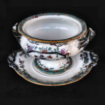 """Rare F  Morley and Co """"Blackberry"""" Tureen with Under Plate NO LID - circ... - $200.00"""