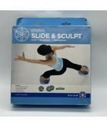 GAIAM Pilates Slide & Sculpt Exercise Set Open Box Slides, Resistance Ba... - $19.75