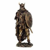 13.5 Inch Viking Warrior with Shield and Club Resin Statue Figurine - $49.49