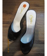 Candies Vintage Black Slides Cork High Heels Sexy and Glam! - $75.00