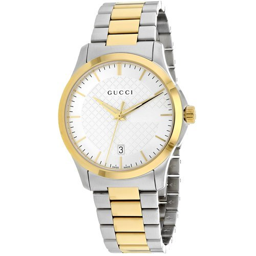 Gucci YA126474 Silver Dial Stainless Steel Strap Unisex Watch - $534.99