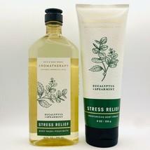 Bath Body Works Aromatherapy STRESS RELIEF Eucalyptus Spearmint Cream & ... - $24.70