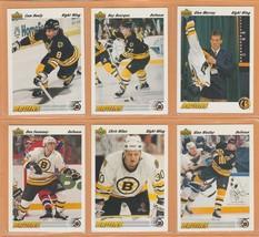 1991 Upper Deck Boston Bruins Team Set 23 Ray Bourque Cam Neely Glen Mu... - $3.50