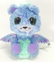 Hatchimal Surprise Peacat Blue Purple Teal Wings Working Light up eyes Used - $11.57