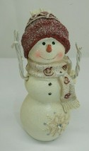 "Kirlin's Hallmark #191 Lg Resin Snowflake Snowman 6.5"" Christmas Figurine  - $9.89"