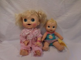 Baby Alive Doll Pink Bracelet Hasbro Real Surprise + Baby Alive Splash N... - $84.02