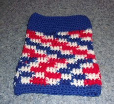Brand New Hand Crocheted Patriotic Red White Blue Dog Snood Neck Warmer ... - $12.74