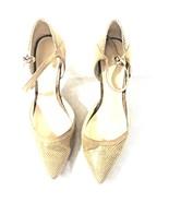 Nine West Women's Heels Nude Pump Point Toe Ankle Strap 10 - $34.64