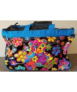 Vintage Lisa Frank Luggage Rolling Duffle Gym Bag Wheels Carry Case Trav... - $296.99