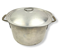 Vintage Wear-Ever 8 Quart Heavy Duty Aluminum Stock Pot 2208 w/ Lid - $41.57