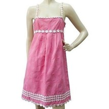 Auth Juicy Couture Knee Length Hearts & Flowers Pink Cotton Summer Dress... - $68.31