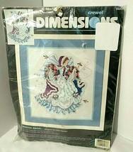 Vintage Crewel Kit Winter Angel Dimensions By Laine Gordon Sealed Flowers Birds - $43.02
