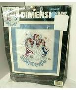 Vintage Crewel Kit WINTER ANGEL Dimensions by Laine Gordon SEALED Flower... - $43.02