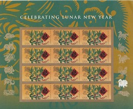 Exquisite USA 2018 Lunar New Year: Year of the Dog, Stamps MNH Free Ship... - $12.75