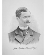 JAMES HAMERSLEY Prominent New Yorker & Lawyer - 1895 Portrait Print - $12.60