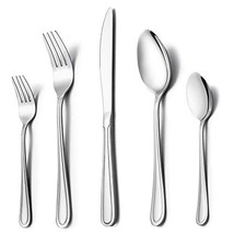 LIANYU 20-Piece Silverware Set, Stainless Steel Flatware Utensil Set for... - $19.64