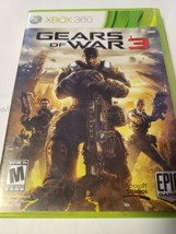 Gears of War 3 Xbox 360, 2011 Standard Edition Complete with Case and Ma... - $11.97