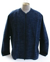 Nike Tech Pack Tech Knit Heathered Blue Stretch Zip Front Jacket Men's NWT - $187.49