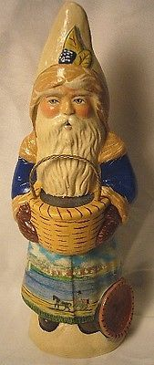 VAILLANCOURT FOLK ART  NANTUCKET SANTA SIGNED BY  JUDI
