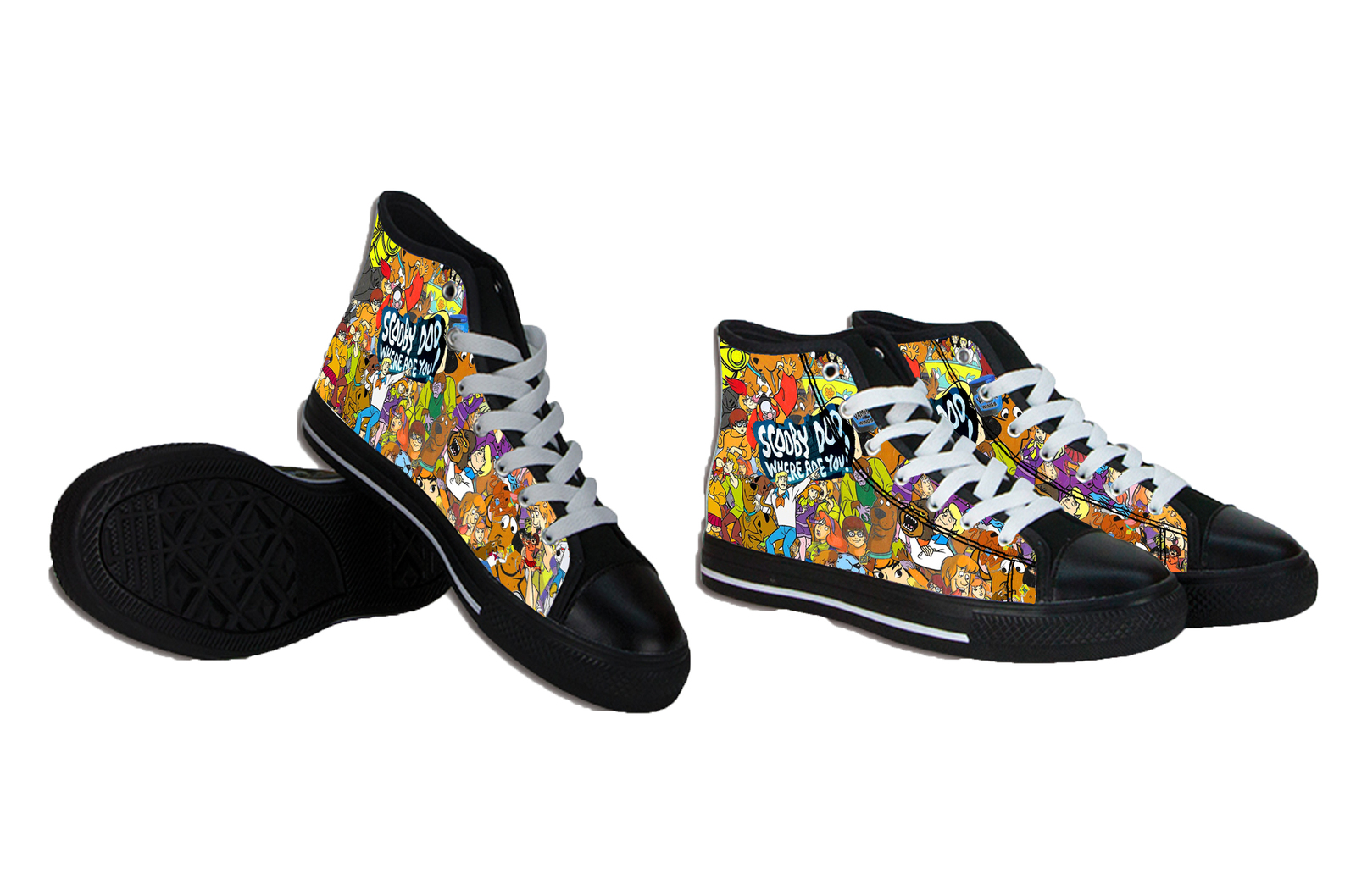 Primary image for scooby doo collage shoes
