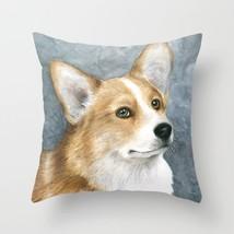 Throw Pillow Cushion case Made in USA Dog 89 Corgi blue art L.Dumas - $29.99+