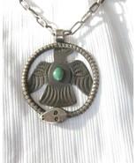 Rare Old Navajo Coin Silver Snake & Thunderbird Necklace   C.1930 - $866.25