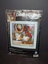 "Dimensions Needlepoint Gershwin 20049  14"" x 14"" New Open Package Tristram (w) - $54.44"