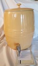 Longaberger Pottery 2009 Butternut Yellow Barrel Beverage Canister Dispe... - $115.00
