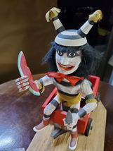 Navajo Kachina Double Watermelon Clown Kachina Handcrafted and Signed on base image 3
