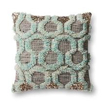 "Loloi Pillow, Justina Blakeney Poly Filled - Teal/Grey Pillow Cover, 22"" x 22"" - $105.41"
