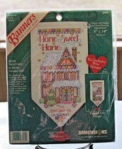 Dimensions Cross Stitch Christmas Banner Kit #8584 Home Sweet Home NEW - $33.24