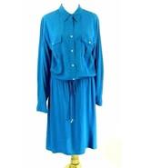 RALPH LAUREN Size 22W Silk-Look Blouson Shirt Dress NWT  - $29.99