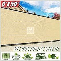 ColourTree 2nd Generation 6' x 50' Beige Fence Privacy Screen Windscreen... - $86.88