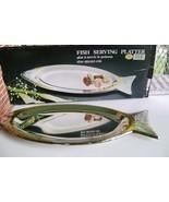 24Kt Gold Plate & Silverplate Fish Serving Platter - $8.00