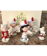 Lenox Peanuts Marching Band Figurine Set Snoopy Charlie Brown Lucy Sally... - $112.19