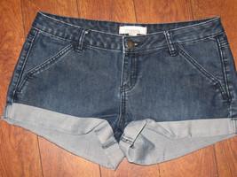 FOREVER21 Womens Shorts Stretch Dark Wash Booty Mini Denim Jeans Sz 28 F... - $8.99
