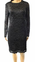 Lauren Ralph Lauren Womens Metallic Lace Cocktail Dress Silver/Black,12, 2721-3 - $59.39
