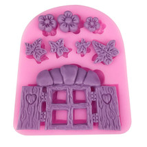 Cartoon Door Silicone Cake Decoration Mold Chocolate, Candy, Mousse, kit... - $5.80