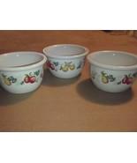 3 Corelle CHUTNEY Ramekins 7 oz Bowls Dessert Fruit Custard Cups Coordin... - $23.01