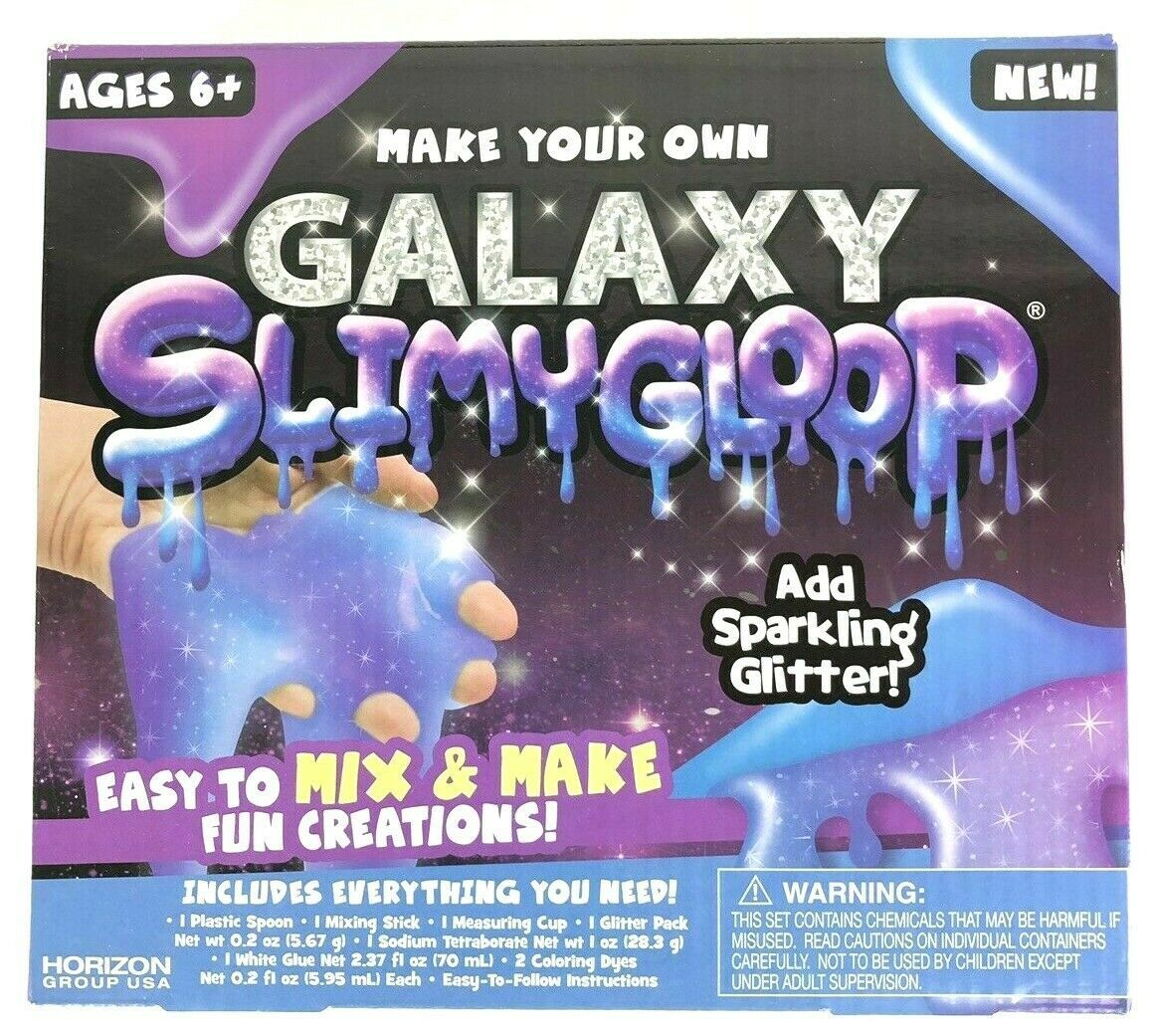 Make Your Own Galaxy Glitter Slimygloop Kit Mix and make Slime NEW sealed BOX