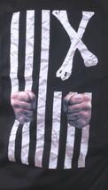Dissizit! Mens Black Free Country Prison Bars American Cross Bones Flag T-Shirt image 2