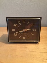 "Vintage 60s Westclox Electric ""Dunbar"" clock with sweep second hand and alarm image 1"