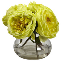 Yellow Fancy Rose with Vase 1391-YL - €42,86 EUR