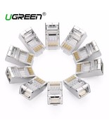 Ugreen CAT6 RJ45 spina 8P8C MODULARE Ethernet - Testa connettore placcat... - $14.81+